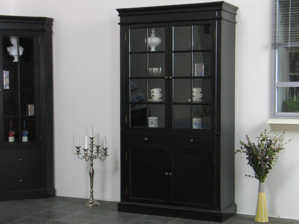 Servieskast Mozart zwart dressoir met opzet   hioshop nl   online meubels   goedkope meubels