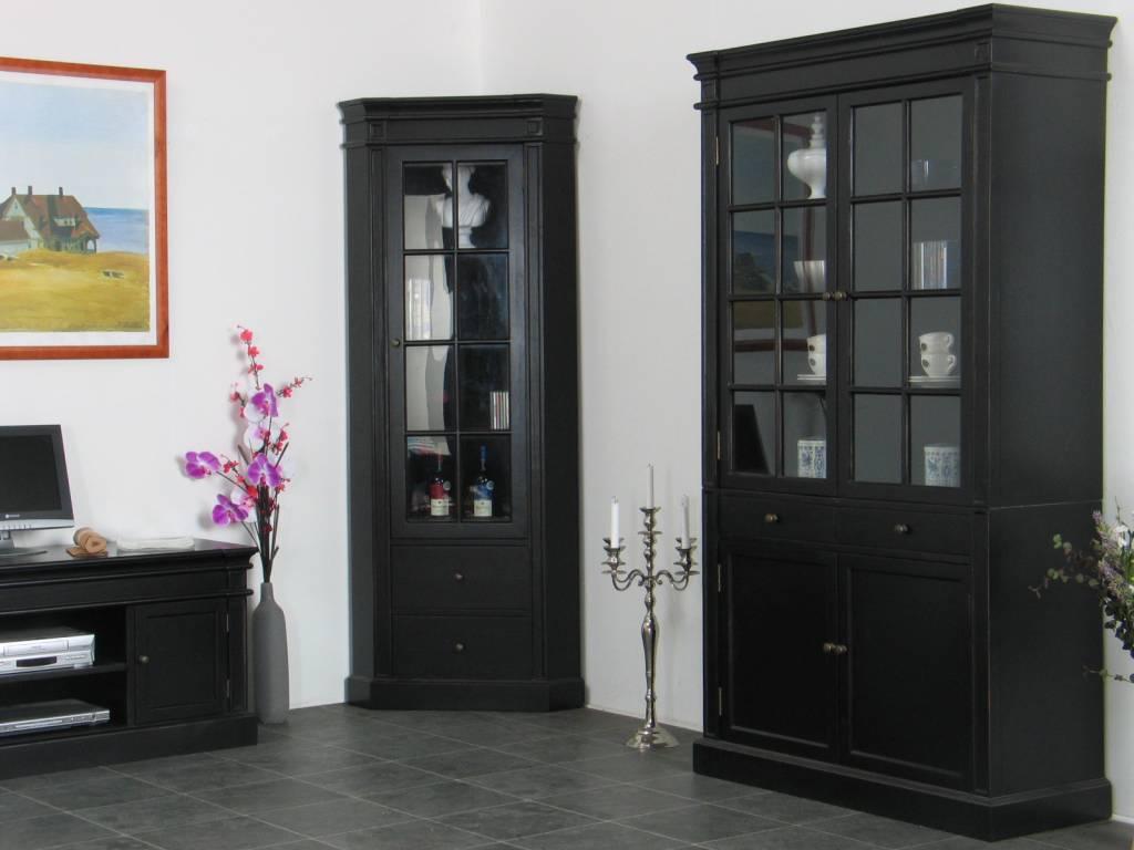 Servieskast Mozart zwart dressoir met opzet - hioshop.nl - online ...