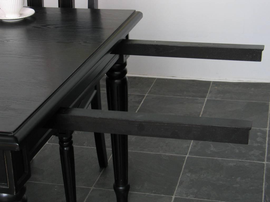 Eetkamertafel Mozart barok tafel zwart incl. verlengstuk - hioshop.nl ...