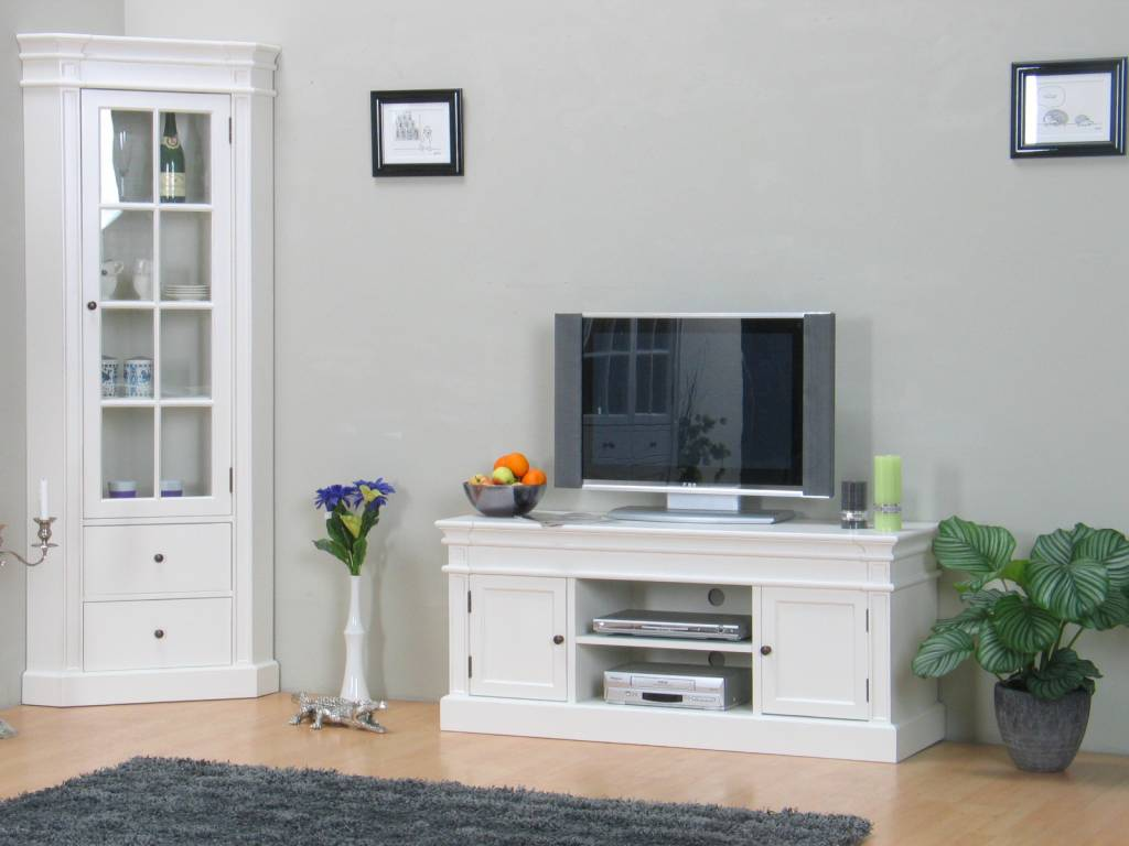 Tv meubel mozart wit online meubels for Goedkope woonkamer