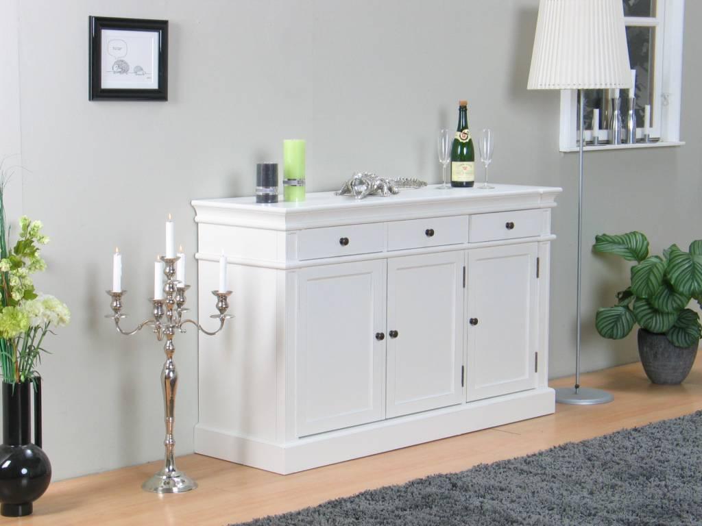 Mozart dressoir wit antiek patine 3drs for Dressoir slaapkamer