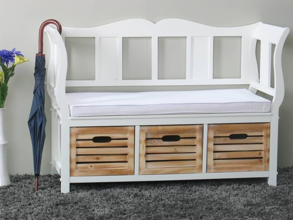 witte halbank inclusief kussen en 3 manden online meubels goedkope meubels. Black Bedroom Furniture Sets. Home Design Ideas