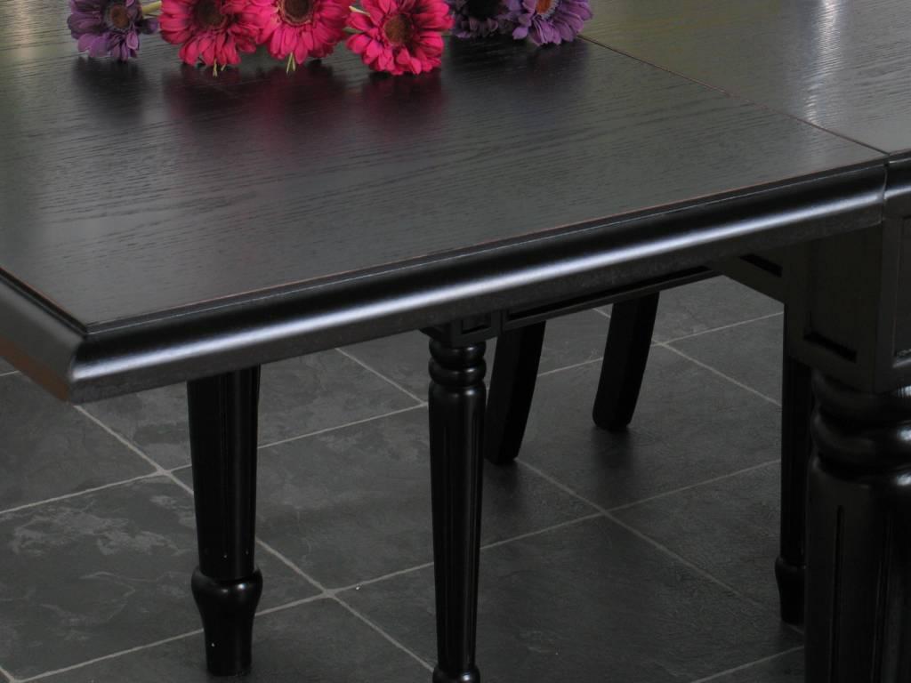 Zwarte Barok Stoel : Eethoek zwart mozart barok tafel met 6 zwarte stoelen
