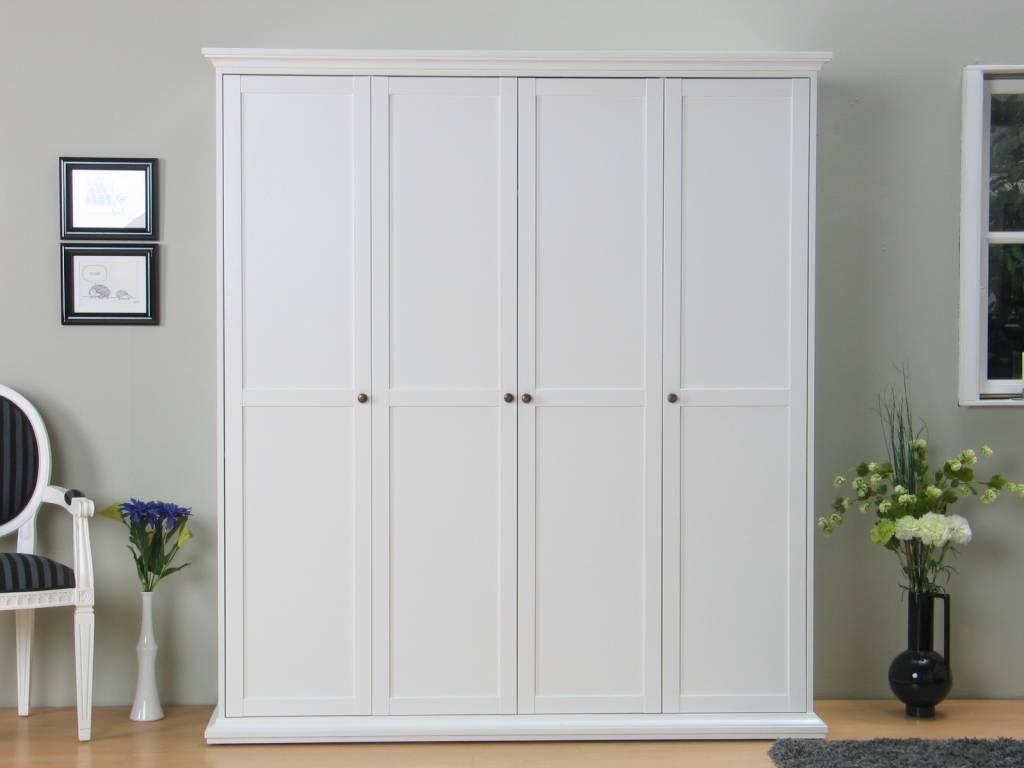 Tvilum 4-deurs kast Venetiu00eb wit kledingkast - hioshop.nl - online ...