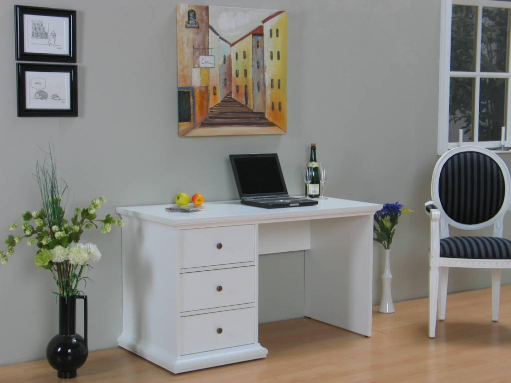 Tvilum Bureau Veneti u00eb wit buro   hioshop nl   online meubels   goedkope meubels