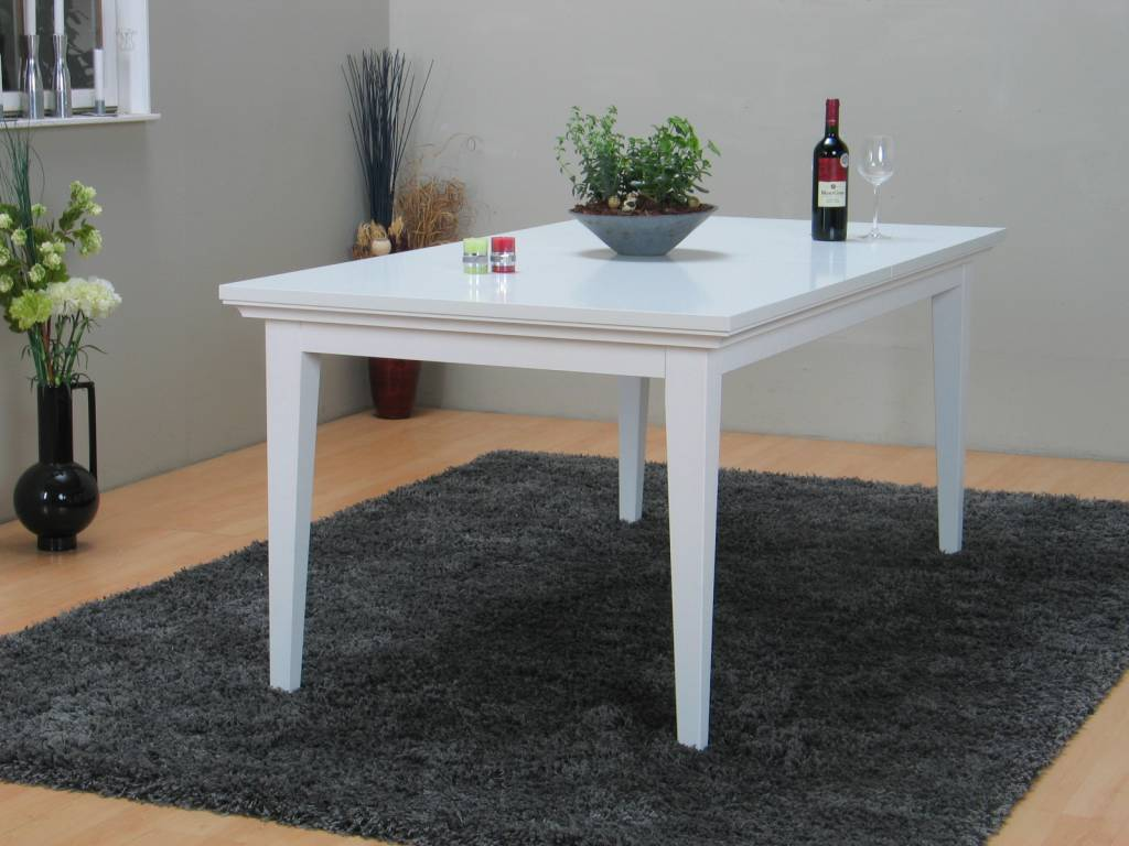 Tvilum tafel veneti eetkamertafel wit 180 276 cm - Keuken witte tafel ...