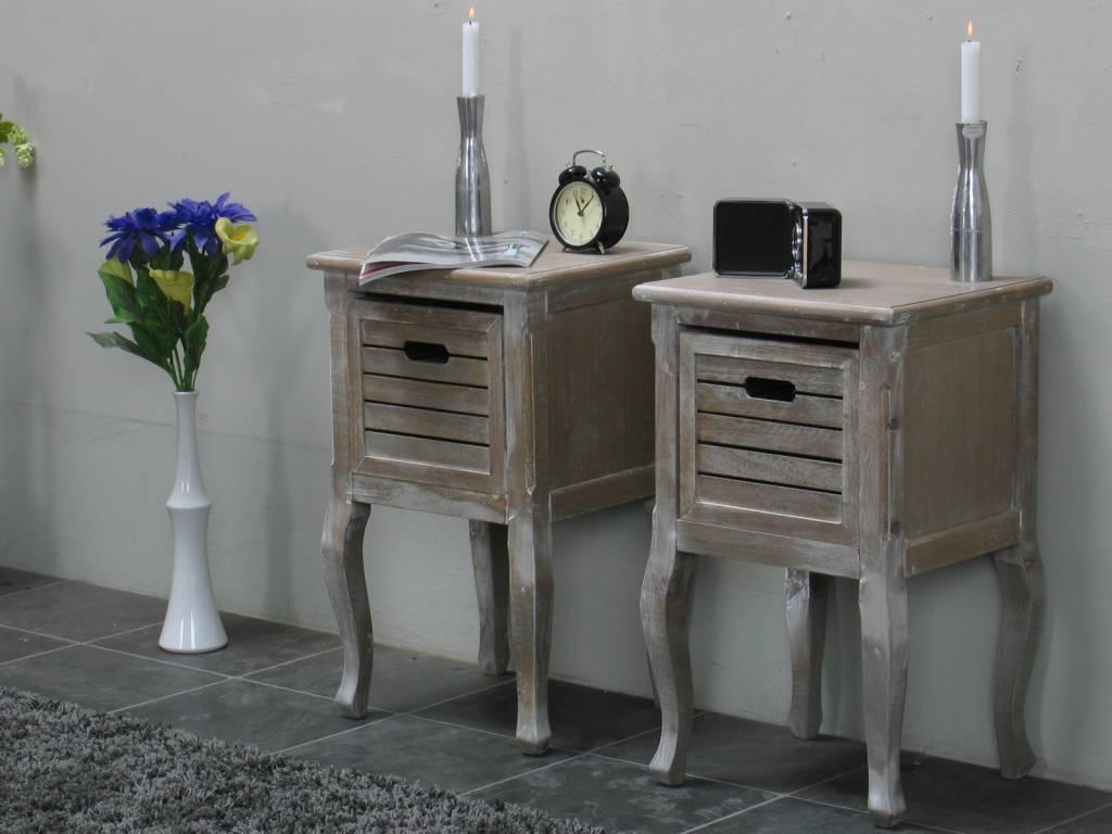 Set van 2 nachtkastjes Madrid - hioshop.nl - online meubels - goedkope ...