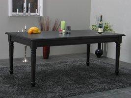 Eetkamertafel Mozart barok tafel zwart incl. verlengstuk