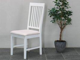 Tvilum Venetië stoel wit met offwhite zitting - set van 2 stoelen
