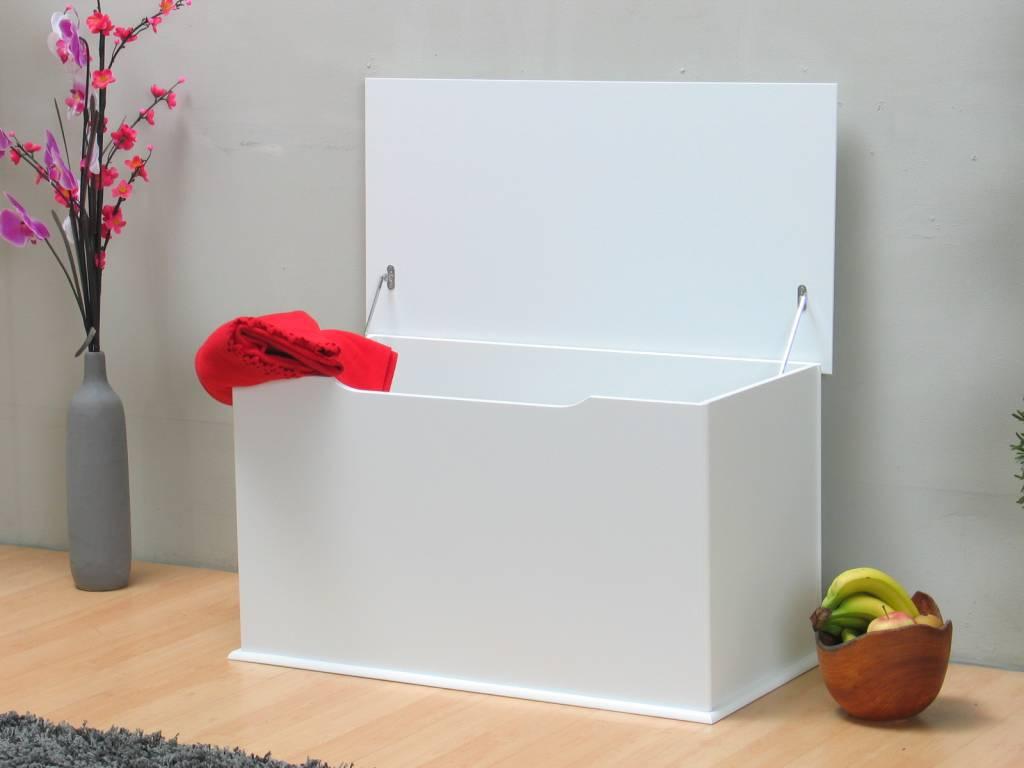 Dekenkist Miles wit speelgoedkist - hioshop.nl - online meubels ...