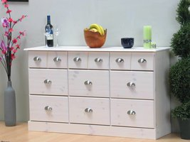 Dressoir Terra wit met 9 laden
