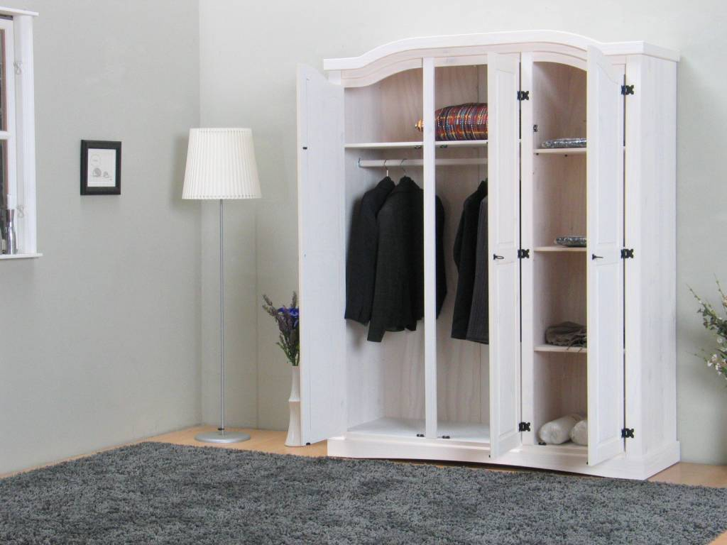 Witte 3 deurs kledingkast new mexico - Designer kledingkast ...
