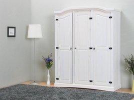 Witte 3-deurs kledingkast New Mexico