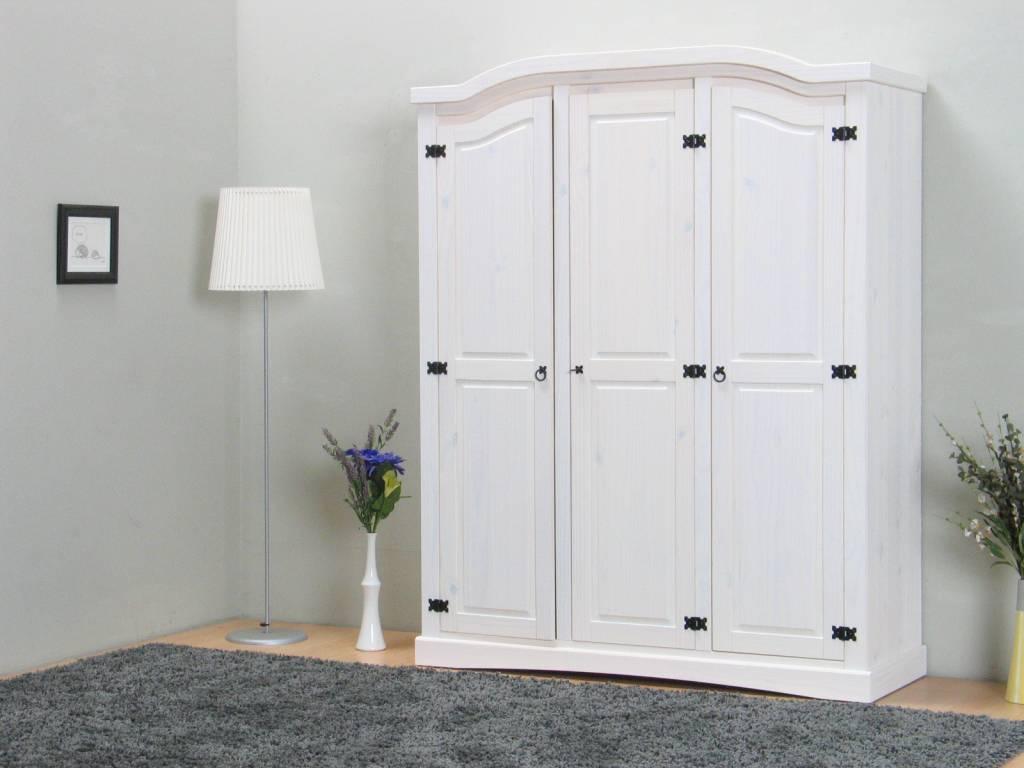 Witte 3 deurs kledingkast New Mexico