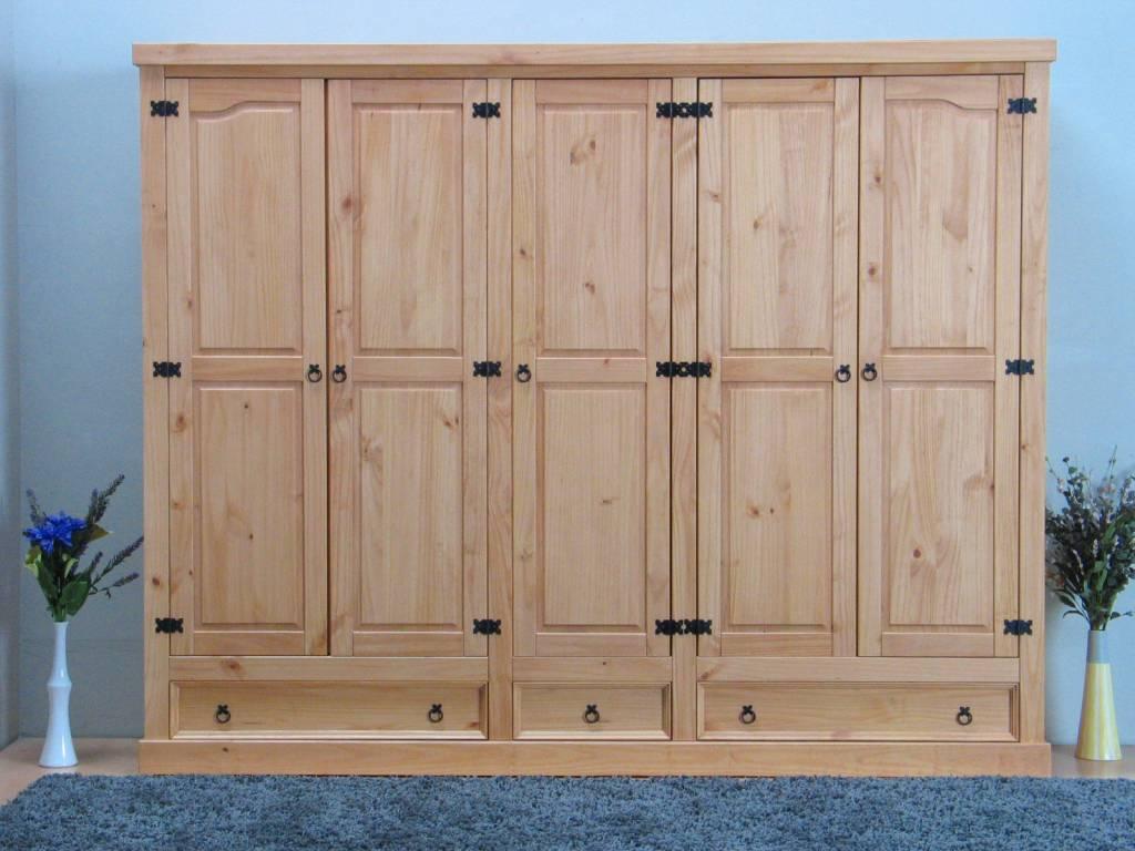 5 deurs kledingkast wit new mexico   hioshop.nl   online meubels ...