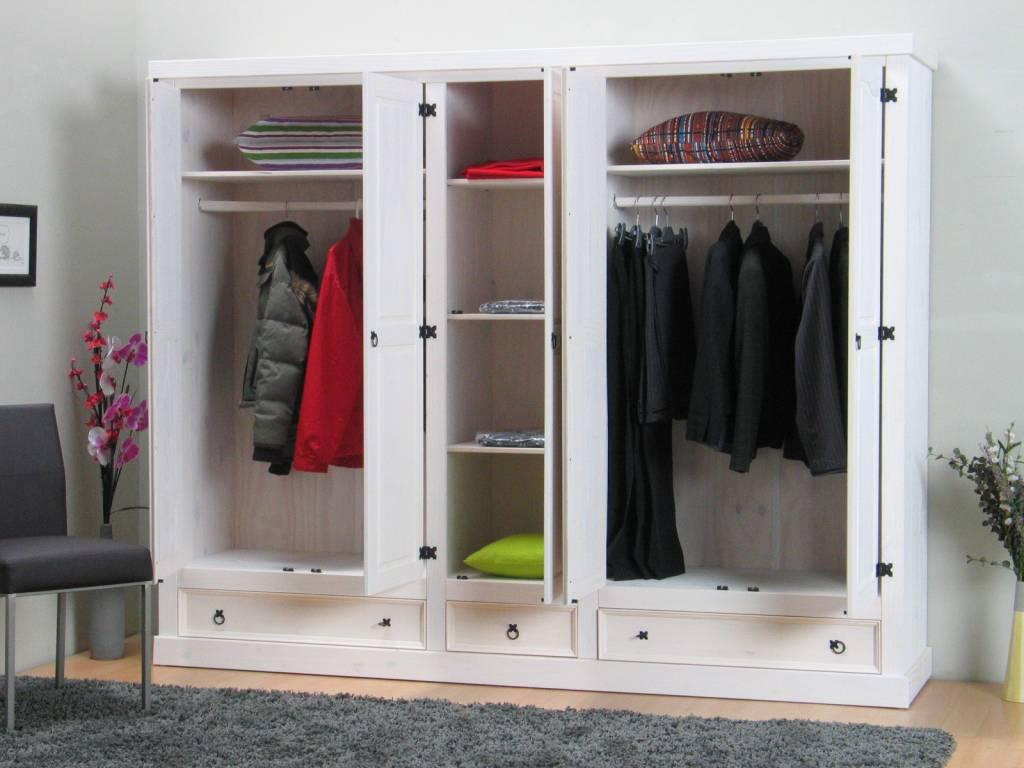 deurs kledingkast wit New Mexico - hioshop.nl - online meubels ...