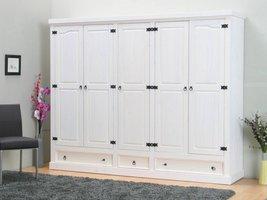5-deurs kledingkast wit New Mexico