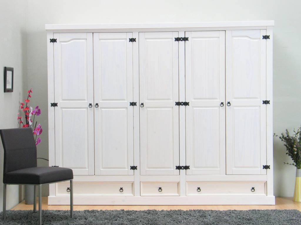 5-deurs kledingkast wit new mexico -, Deco ideeën