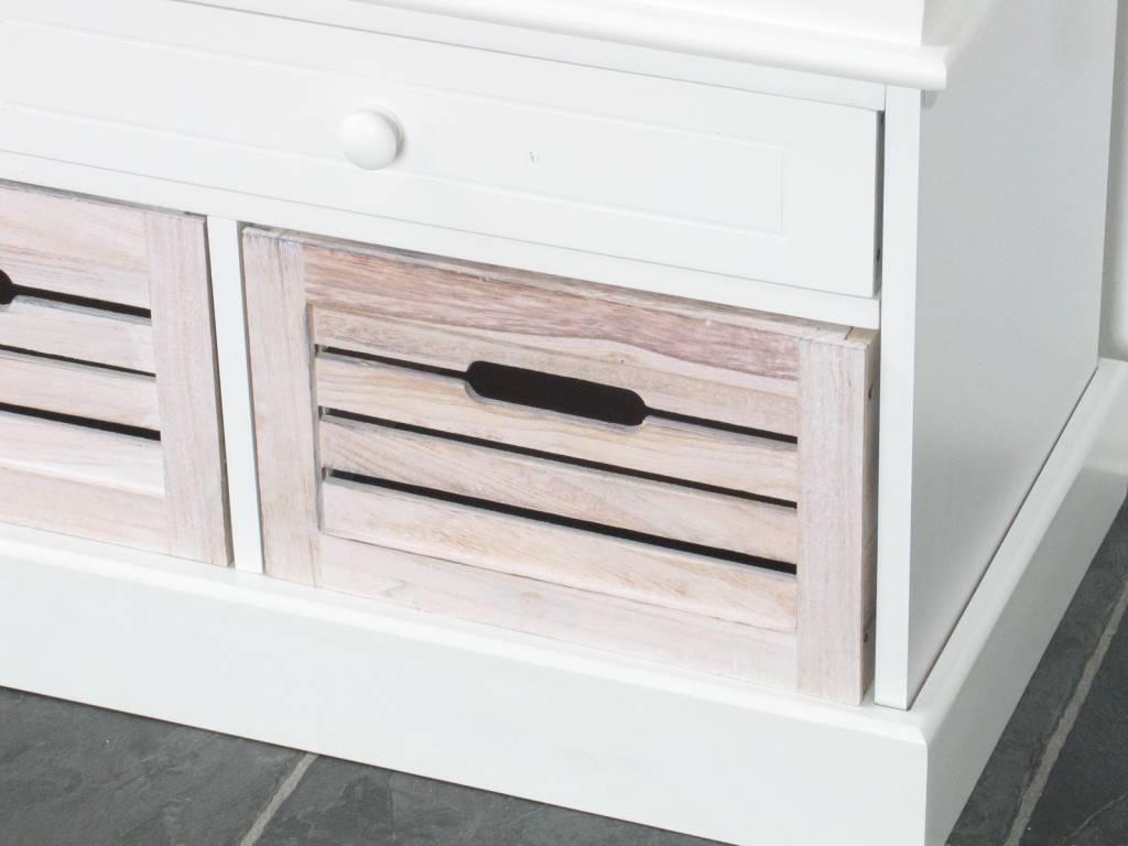 Houten Bankje Slaapkamer : Halbank wit halbankje met houten manden ...