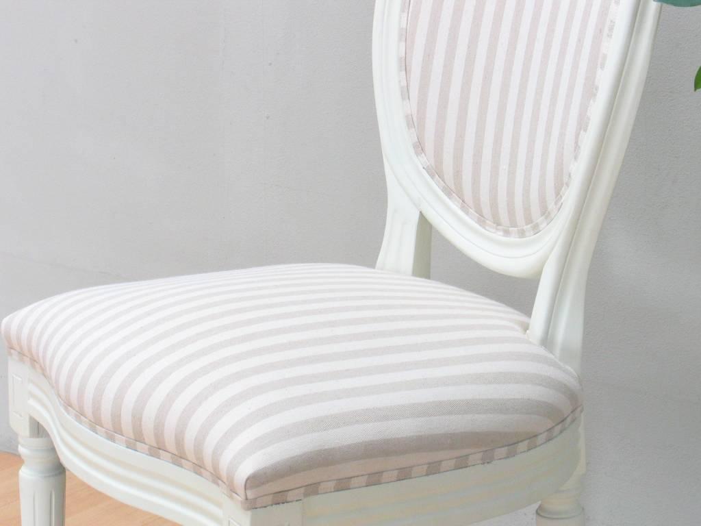 Antiek witte eethoek barok Mozart met 6 Rococo stoelen   hioshop nl   online meubels   goedkope