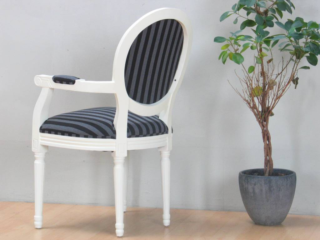 Gallery of cremewit barok stoel met armleuning rococo met for Barok eetstoelen