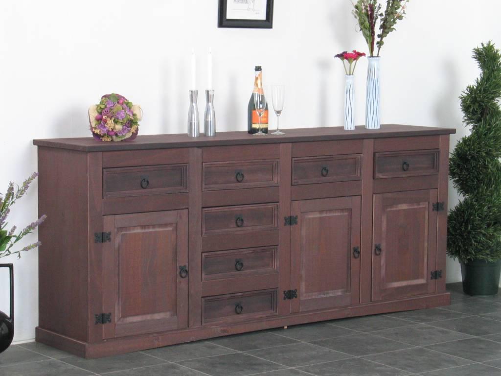 Dressoir new mexico bruin online meubels for Goedkope meubels