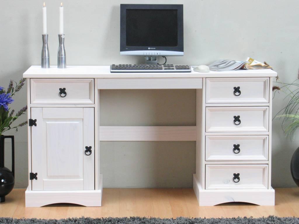 ... grenen meubels - woonkamer en slaapkamer Bureau wit New Mexico