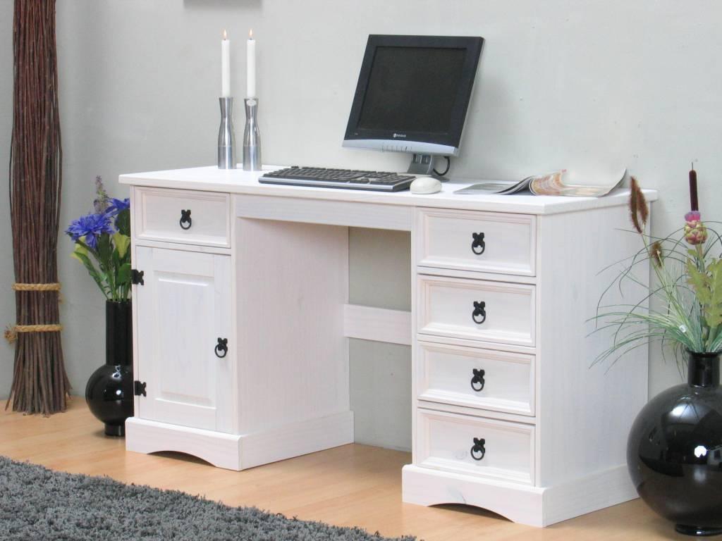 Bureau wit met hout vintage bureau bureaus dehands be bureau