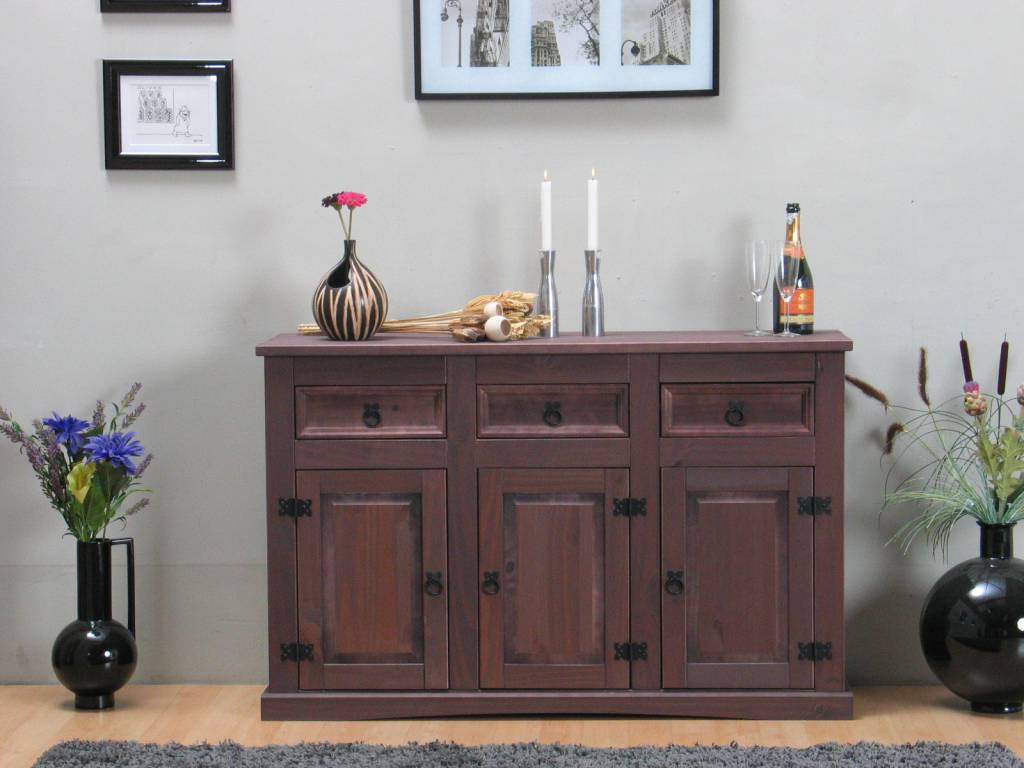 Bruin dressoir new mexico koloniaal 132cm   hioshop.nl   online ...