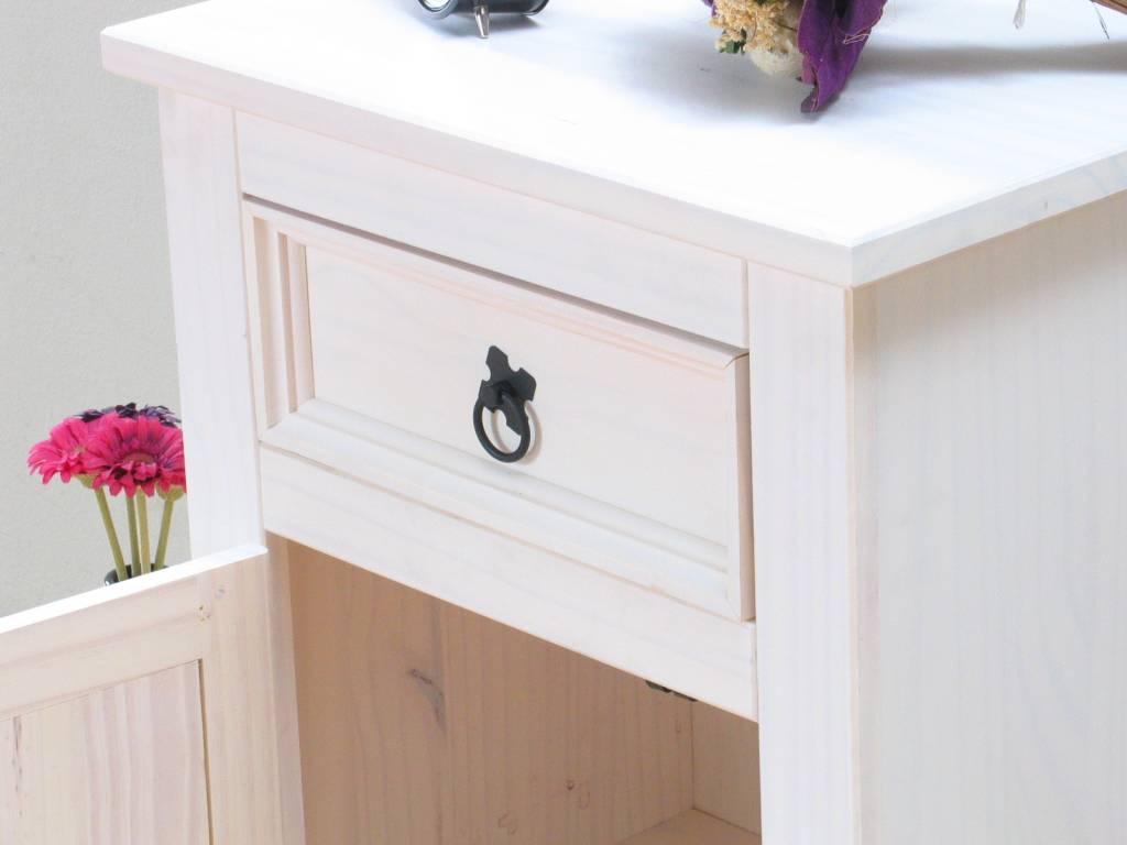 2 nachtkastjes wit New Mexico   hioshop nl   online meubels   goedkope meubels