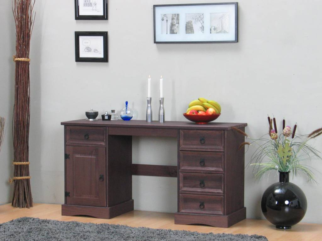 Koloniaal bureau bruin New Mexico - hioshop.nl - online meubels ...