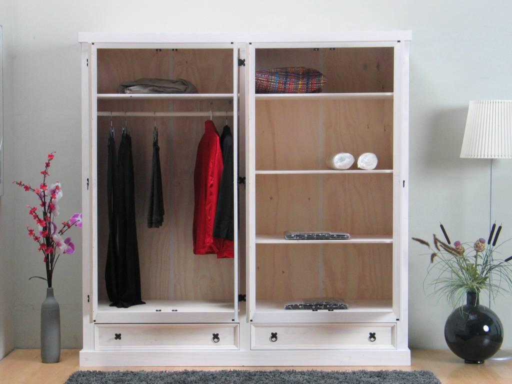 Witte kledingkast 4-deurs New Mexico - hioshop.nl - online meubels ...
