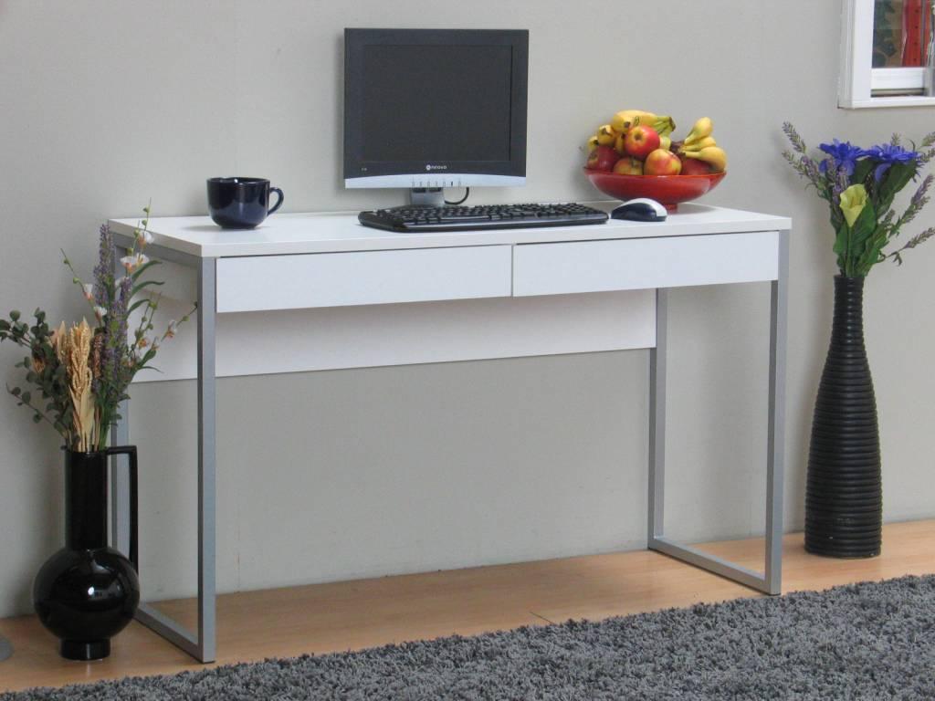 Tvilum Bureau met 2 laden u0026#39;Functionu0026#39; wit - hioshop.nl - online meubels ...