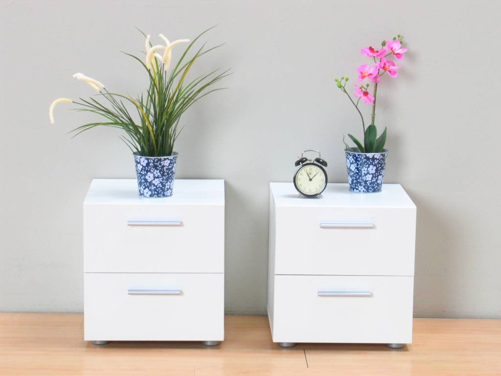 Tvilum Witte nachtkastjes Pepe set van 2 stuks   hioshop nl   online meubels   goedkope meubels