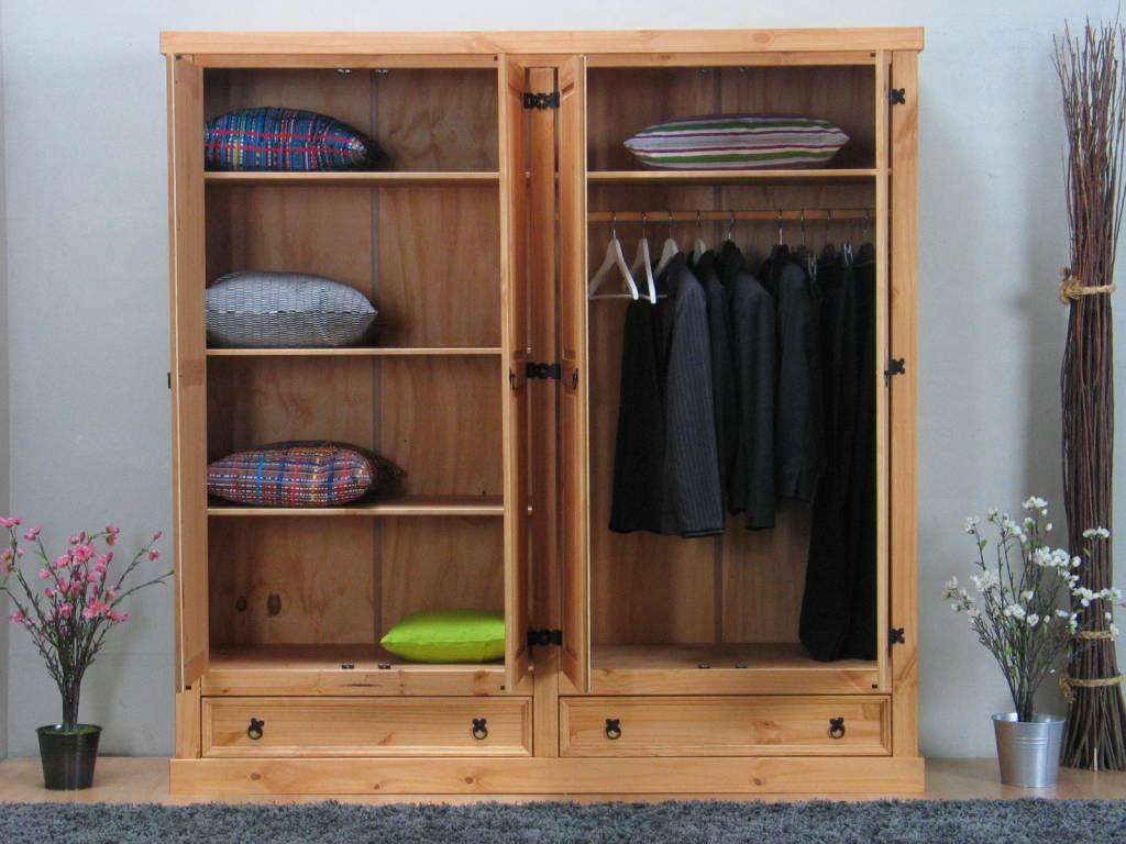 New Mexico 4-deurs landelijke kledingkast 194cm breed - hioshop.nl ...