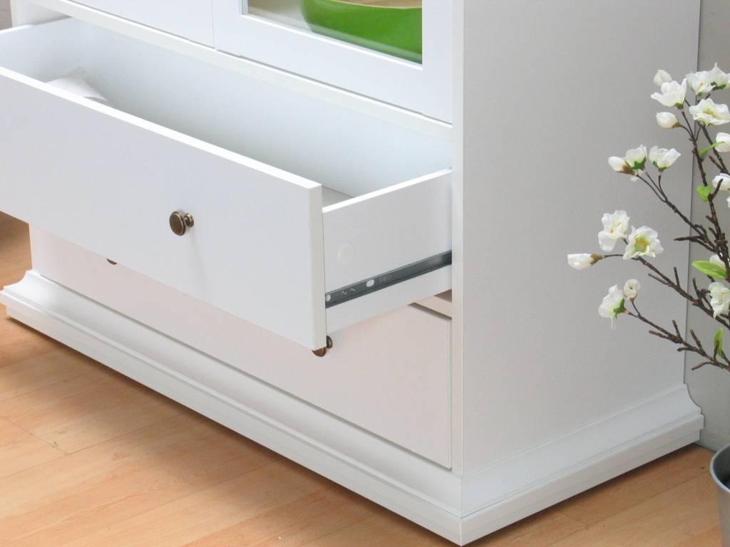 Tvilum vitrinekast 2 drs wit venetië 201x97x41,5 cm   hioshop.nl ...