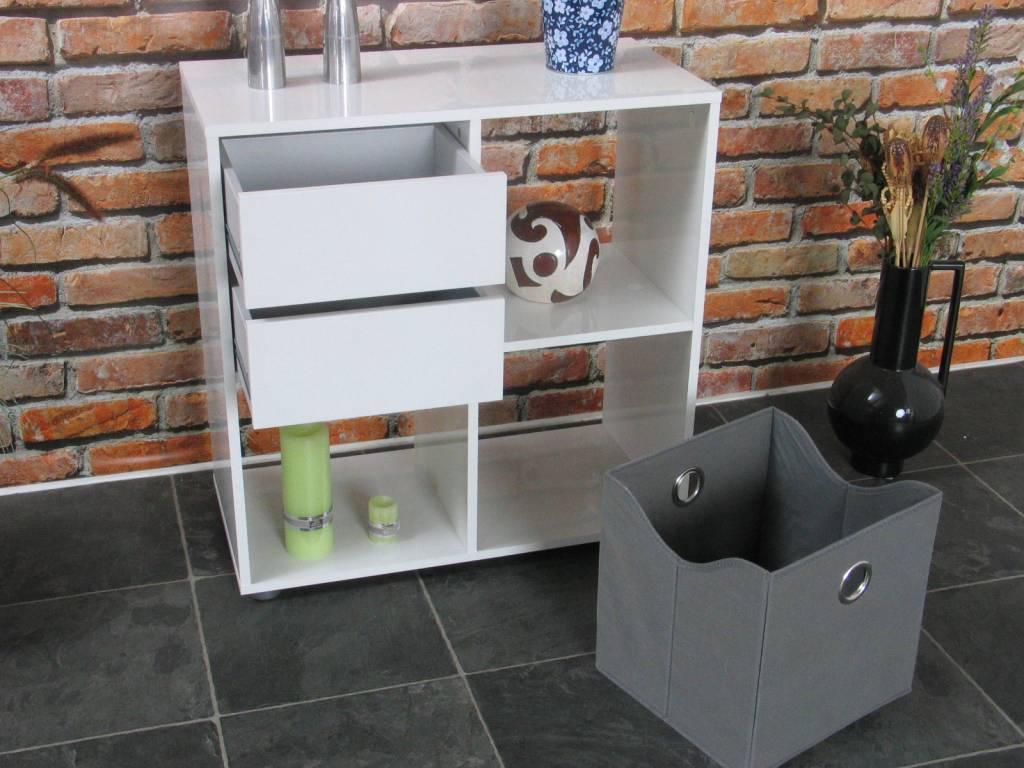 Roomdivider wit hoogglans divide 71x73 cm   hioshop.nl   online ...