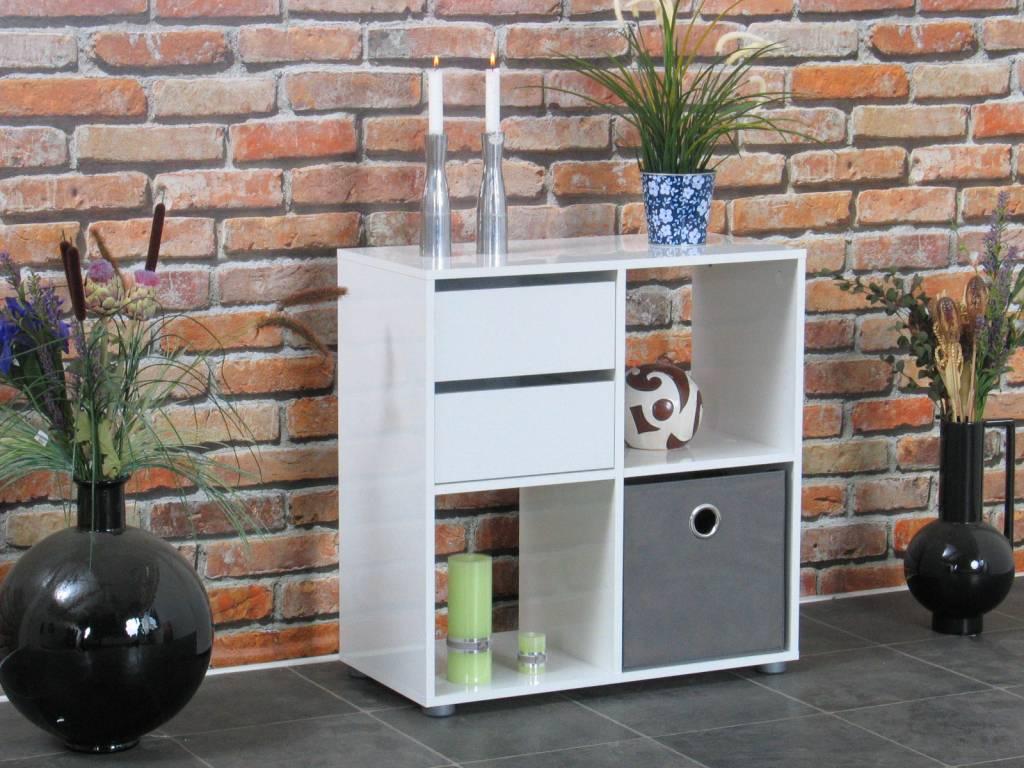 Roomdivider wit hoogglans Divide 71x73 cm - hioshop.nl - online ...