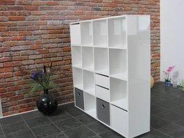 Roomdivider wit hoogglans Divide 139x141 cm