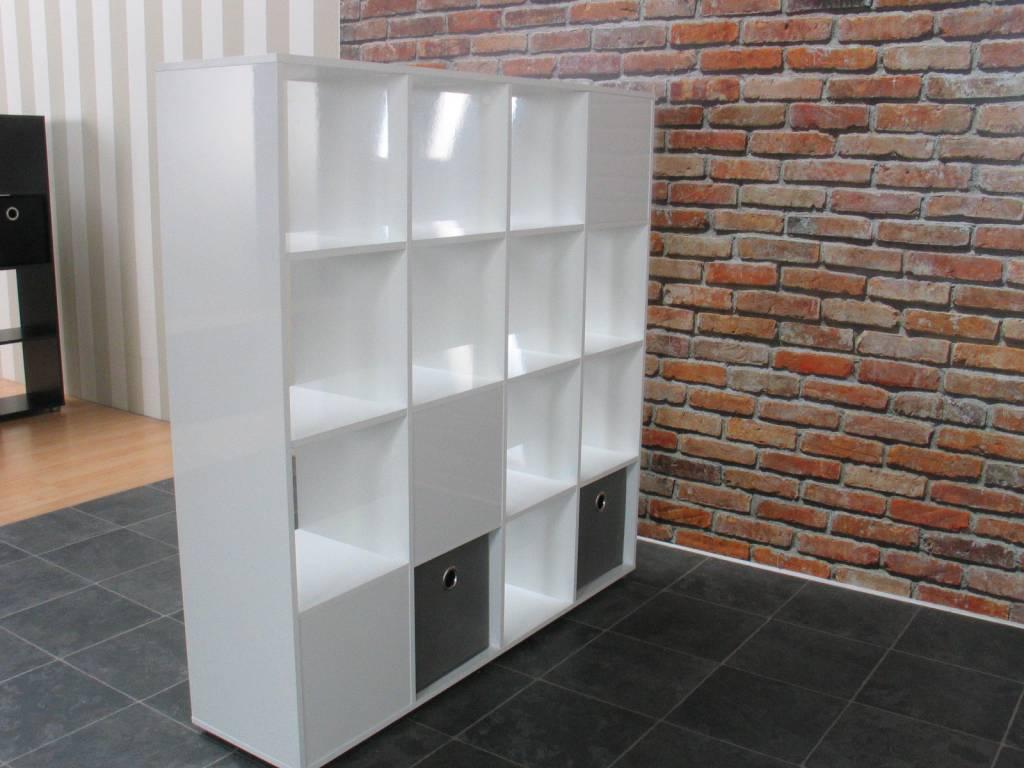 Roomdivider wit hoogglans Divide 139x141 cm - hioshop.nl - online ...