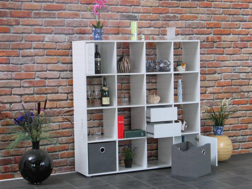 Roomdivider wit hoogglans divide 139x141 cm   hioshop.nl   online ...