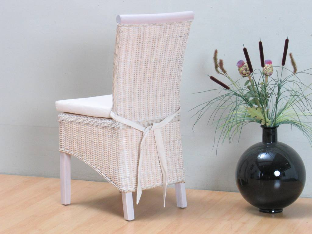 Stoelkussen off white ecru voor rotan stoel larissa