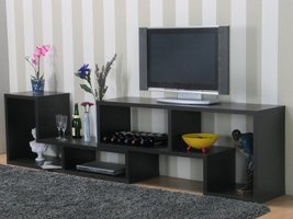 Tvilum TV-meubel open zwartbruin 297x66x40 cm Flexo