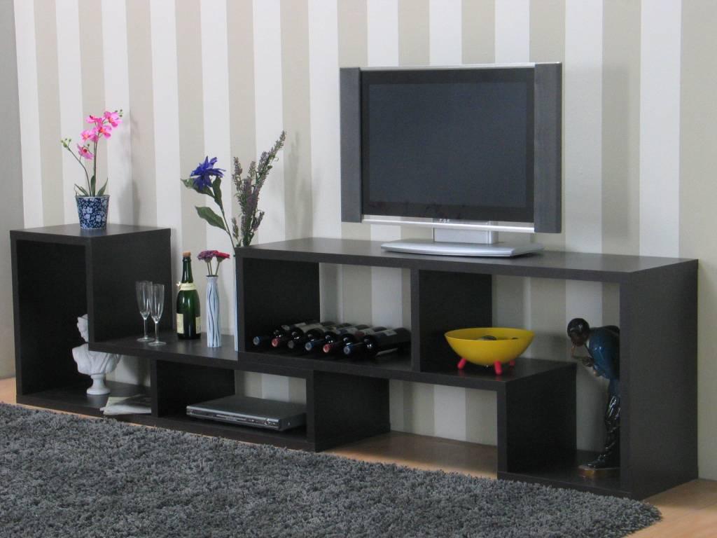 Tvilum TV-meubel open zwartbruin 297x66x40 cm Flexo - hioshop.nl ...