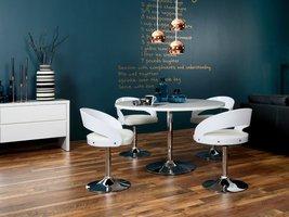 Design stoel wit met ronde voet Lima