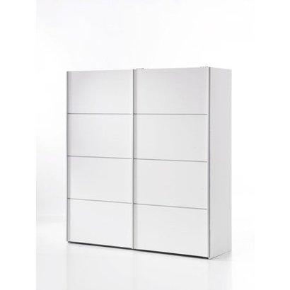 tvilum zweefdeurkast met twee deuren wit 182x202x64 cm verona. Black Bedroom Furniture Sets. Home Design Ideas