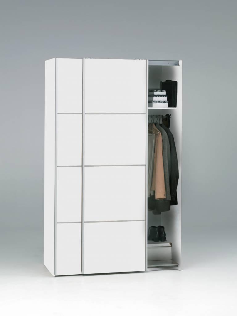 Tvilum Zweefdeurkast met twee deuren wit 122x202x64 cm Verona