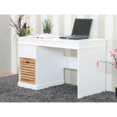 bureau wit anna met 2 lades 120 cm breed