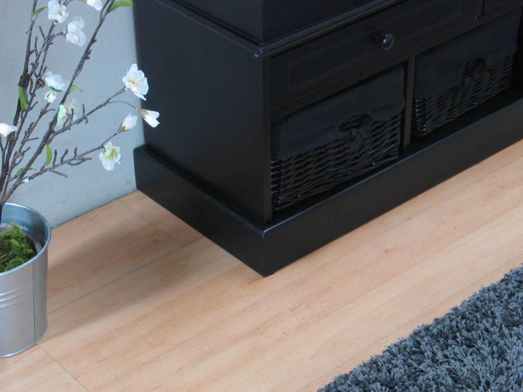 Halbankje zwart met zwarte mandjes Anna   hioshop nl   online meubels   goedkope meubels