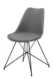 Design Annie grijs met zwart onderstel
